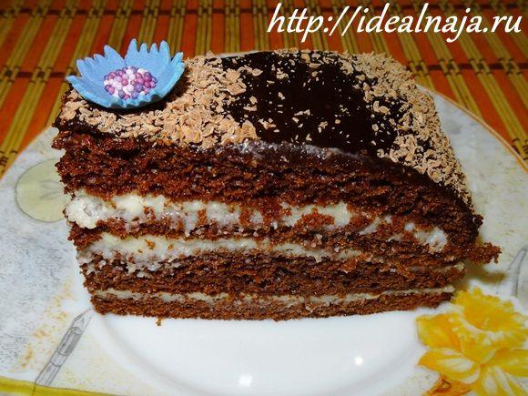 Торт Прага с манным кремом