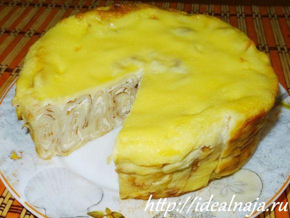 Удачный рецепт блинного пирога