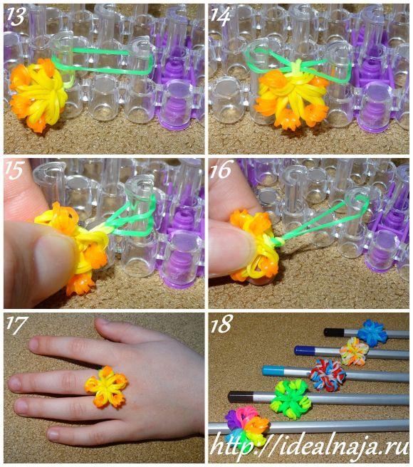 Как сделать колечко из резиночек видео