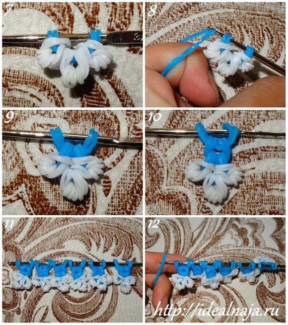 Как сделать снежинки из резинок ч.2