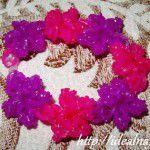 Браслет Цветы из резинок
