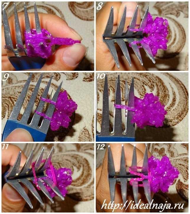 Как сделать браслет Цветы ч. 2