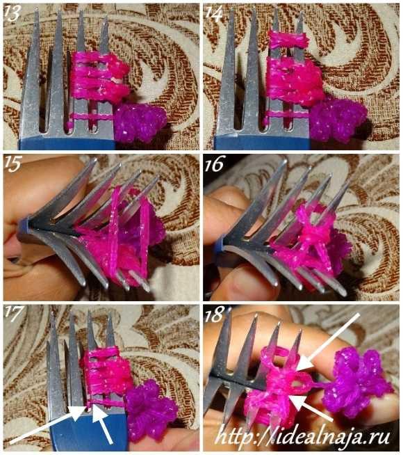 Как сделать браслет Цветы ч. 3