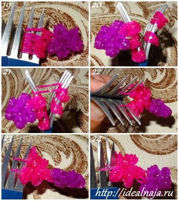 Как сделать браслет Цветы ч. 4
