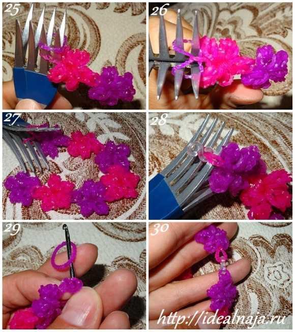 Как сделать браслет Цветы ч. 5