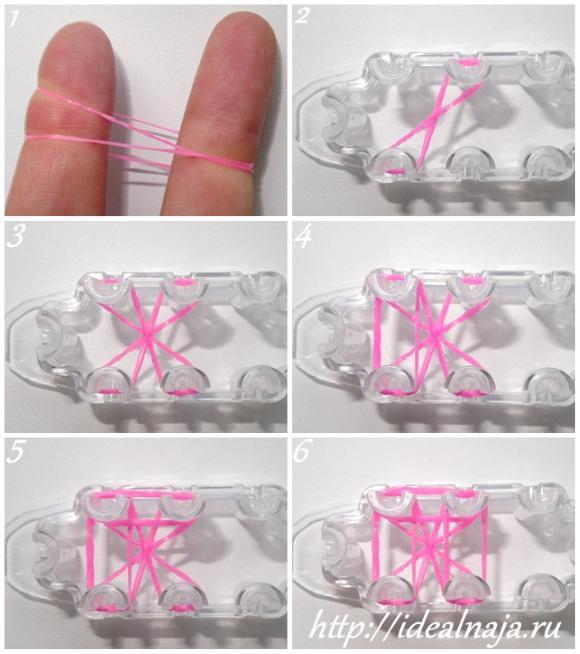Как сделать браслет Бусинки из резинок ч.1