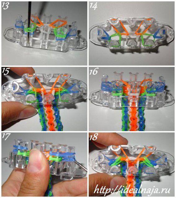 Как сделать браслет 5/6 ч.3 из резиночек