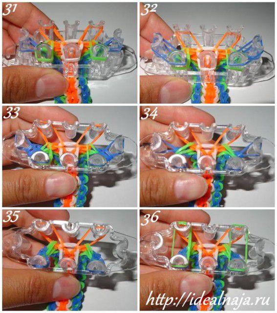 Как сделать браслет 5/6 ч.6 из резиночек