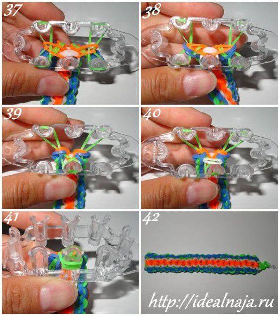 Как сделать браслет 5/6 ч.7 из резинок