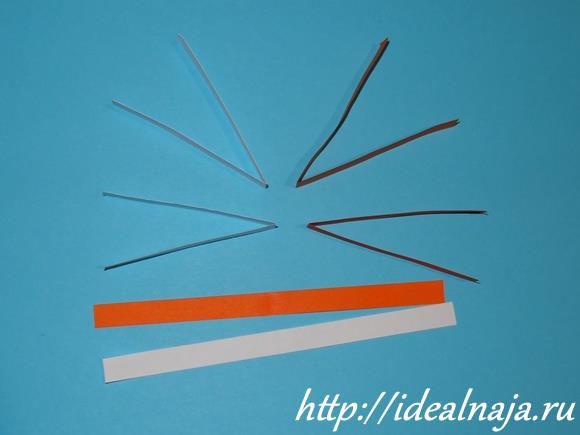 Сделать заготовки полосок нужной длины для каждого вида ширины