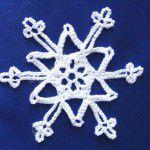 Снежинки крючком