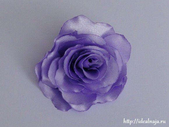 Розы своими руками из ткани фото