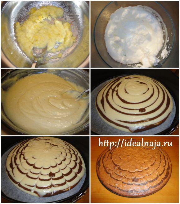 как приготовить торт зебра с фото