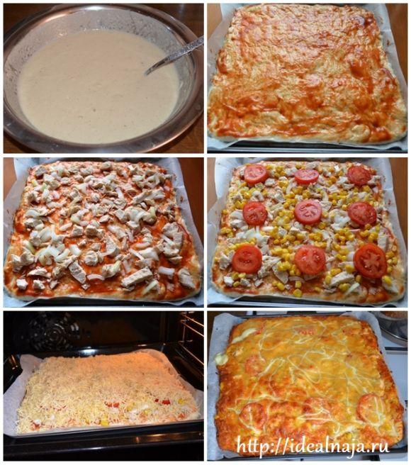 Начинка для пиццы рецепты с фото простые