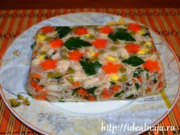 Заливное курицы желатином фото рецепт