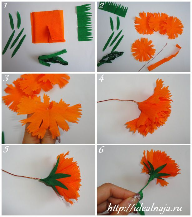 Как сделать гвоздику из салфеток своими руками