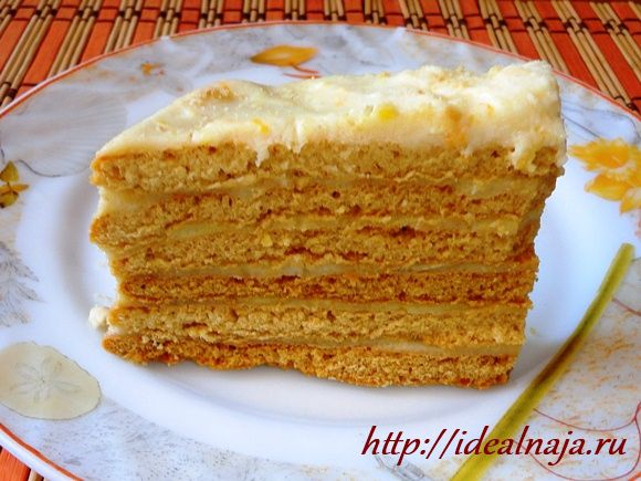 медовый торт на сковороде рецепт с кремом на манке