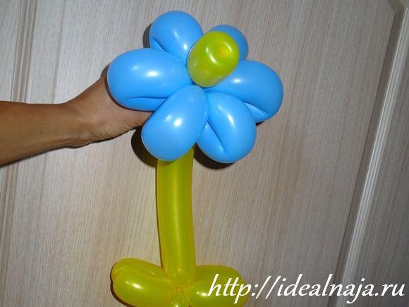 Из длинных шаров цветок