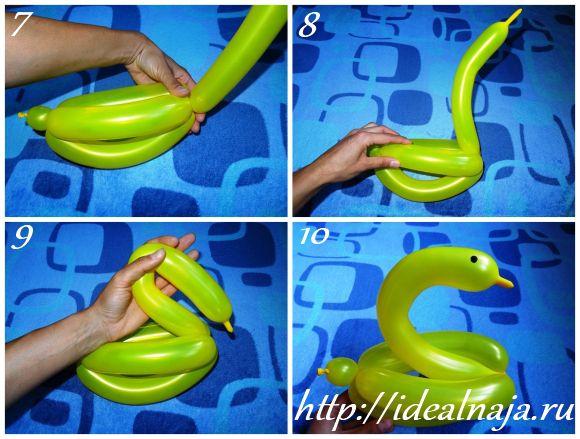 Как сделать из длинного шарика одного 792