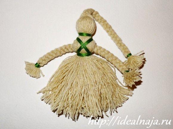 Кукла своими руками из ниток для вязания